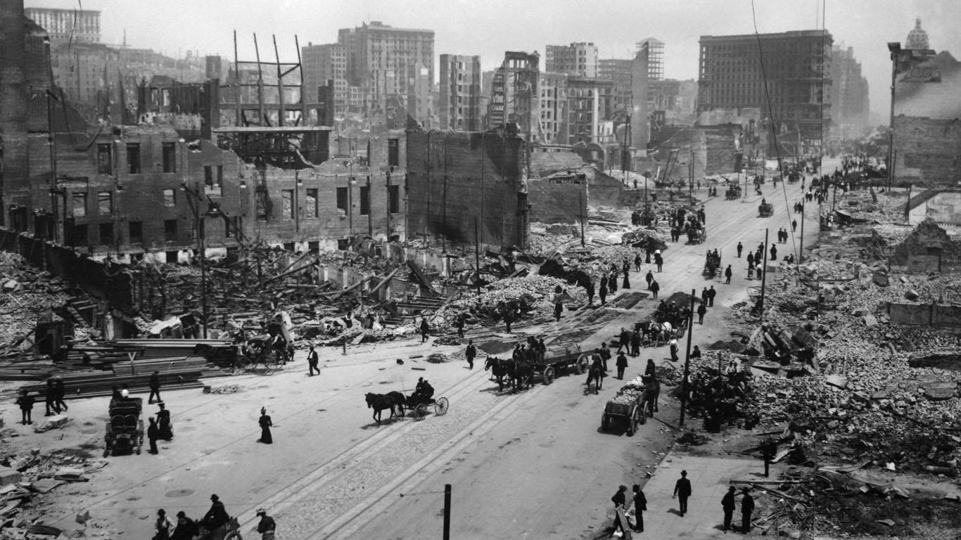 April 1906: Erst das Erdbeben, dann das Feuer - San Francisco