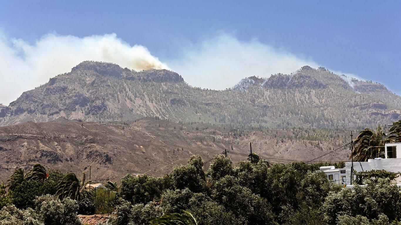 Juli 2007: Waldbrand auf Gran Canaria