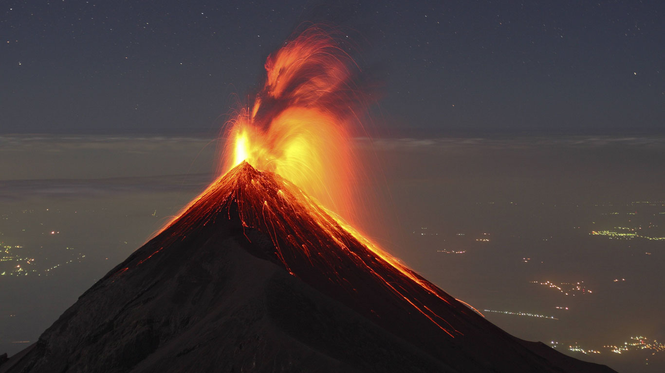 Größte Vulkanausbrüche