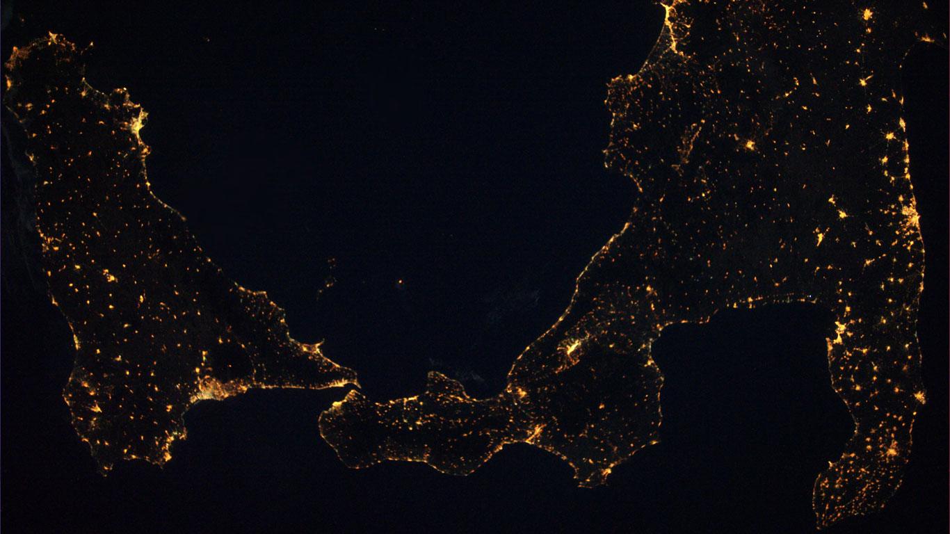 Süditalien bei Nacht