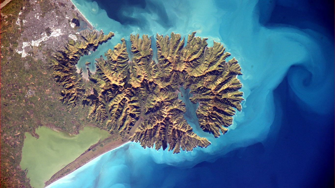 Die Banks-Halbinsel in Neuseeland