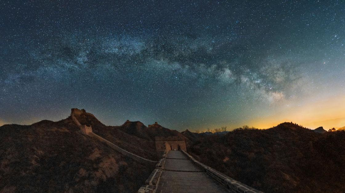 Chinesische Mauer Weltraum