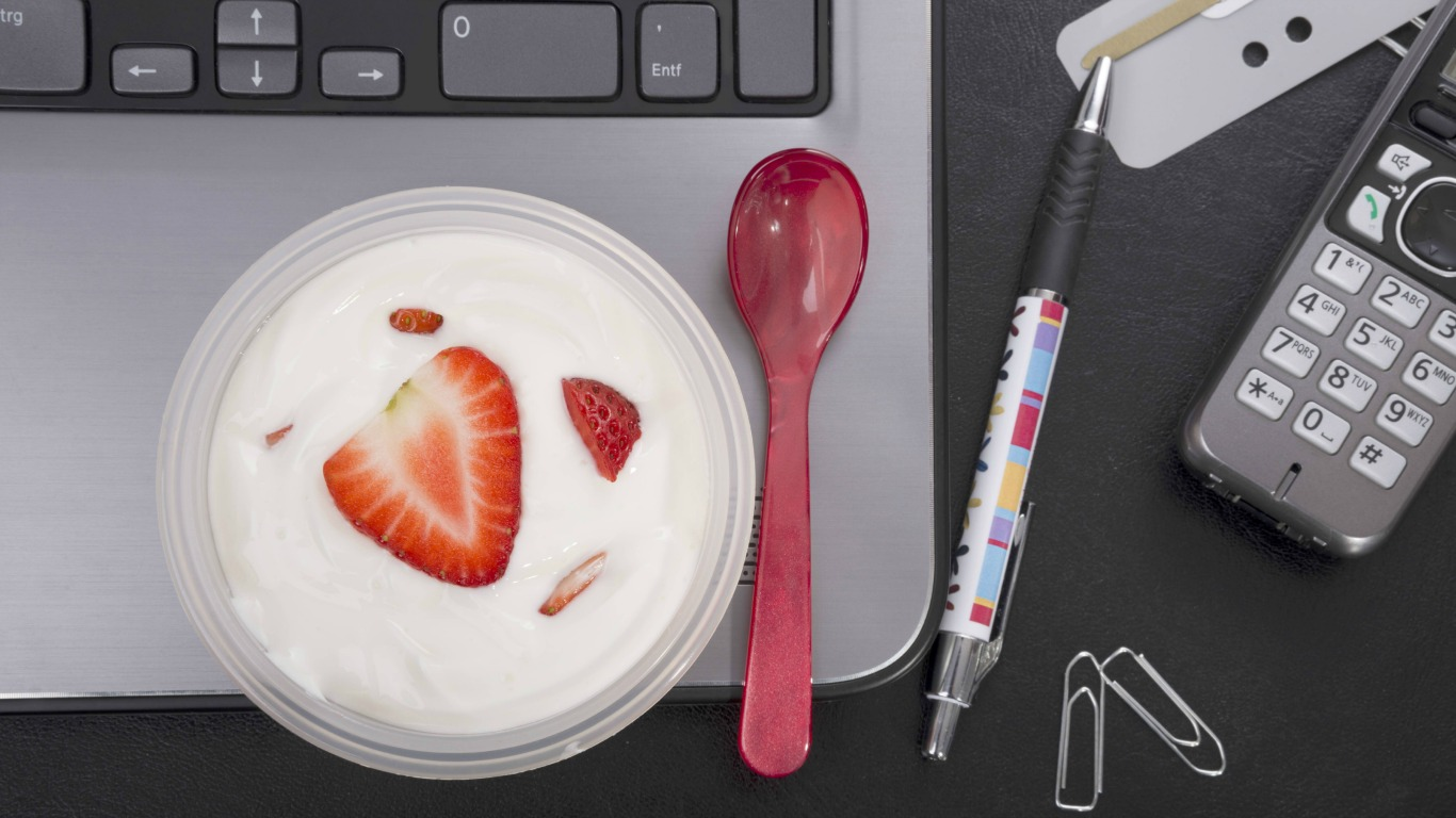 Joghurt mit Fruchtmark