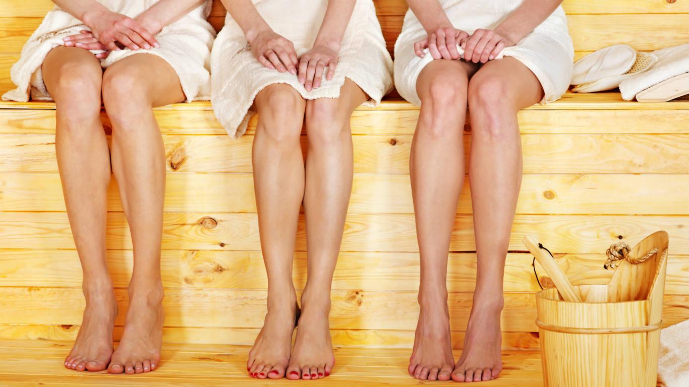 Ein Sauna-Menü besteht aus drei Gängen