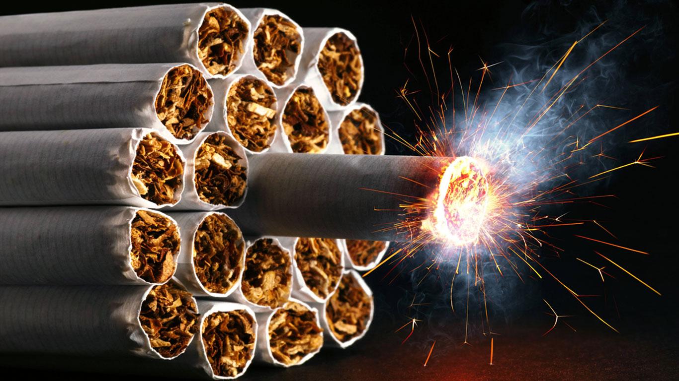 Der Suchtatlas des Körpers: Nikotin