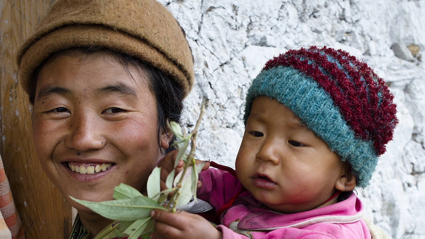 Bhutans Bürger sind glückliche Bürger