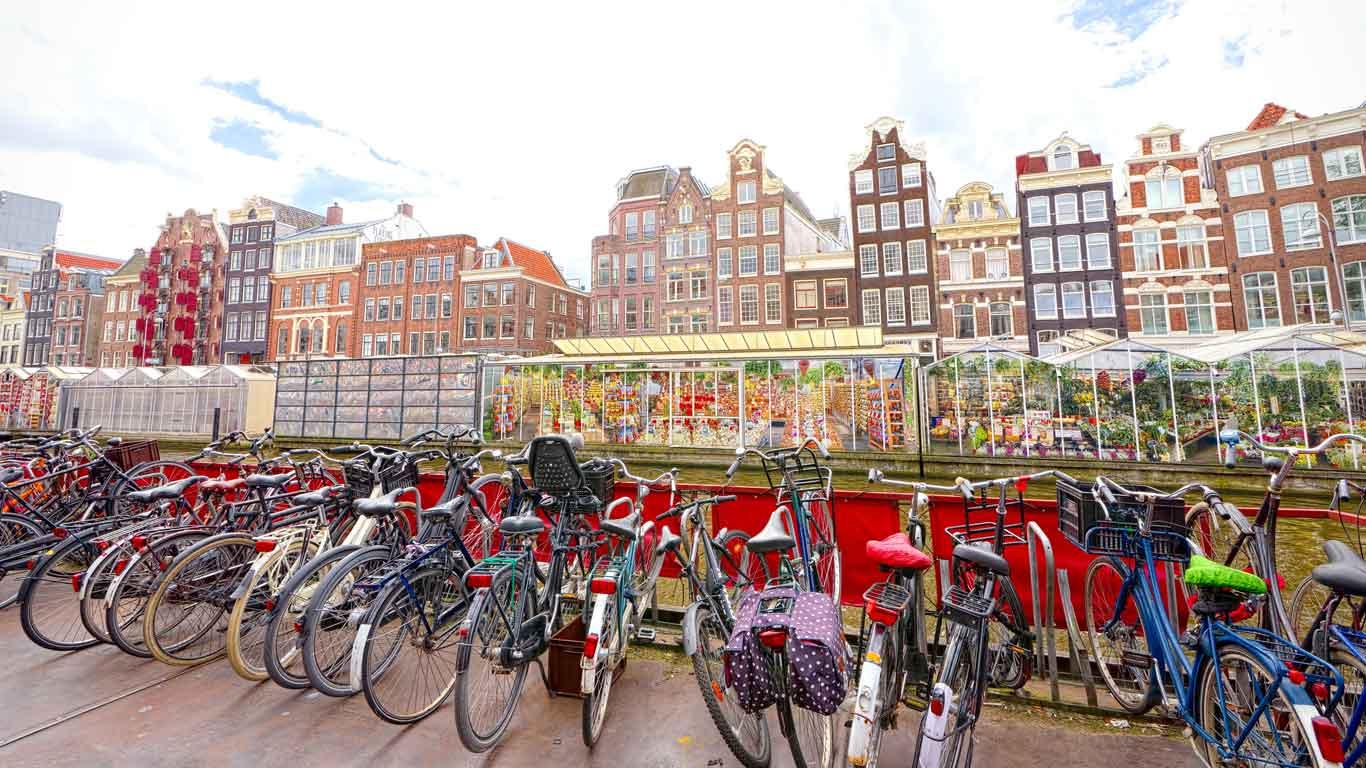 Hier wird in die Pedale getreten: Amsterdam