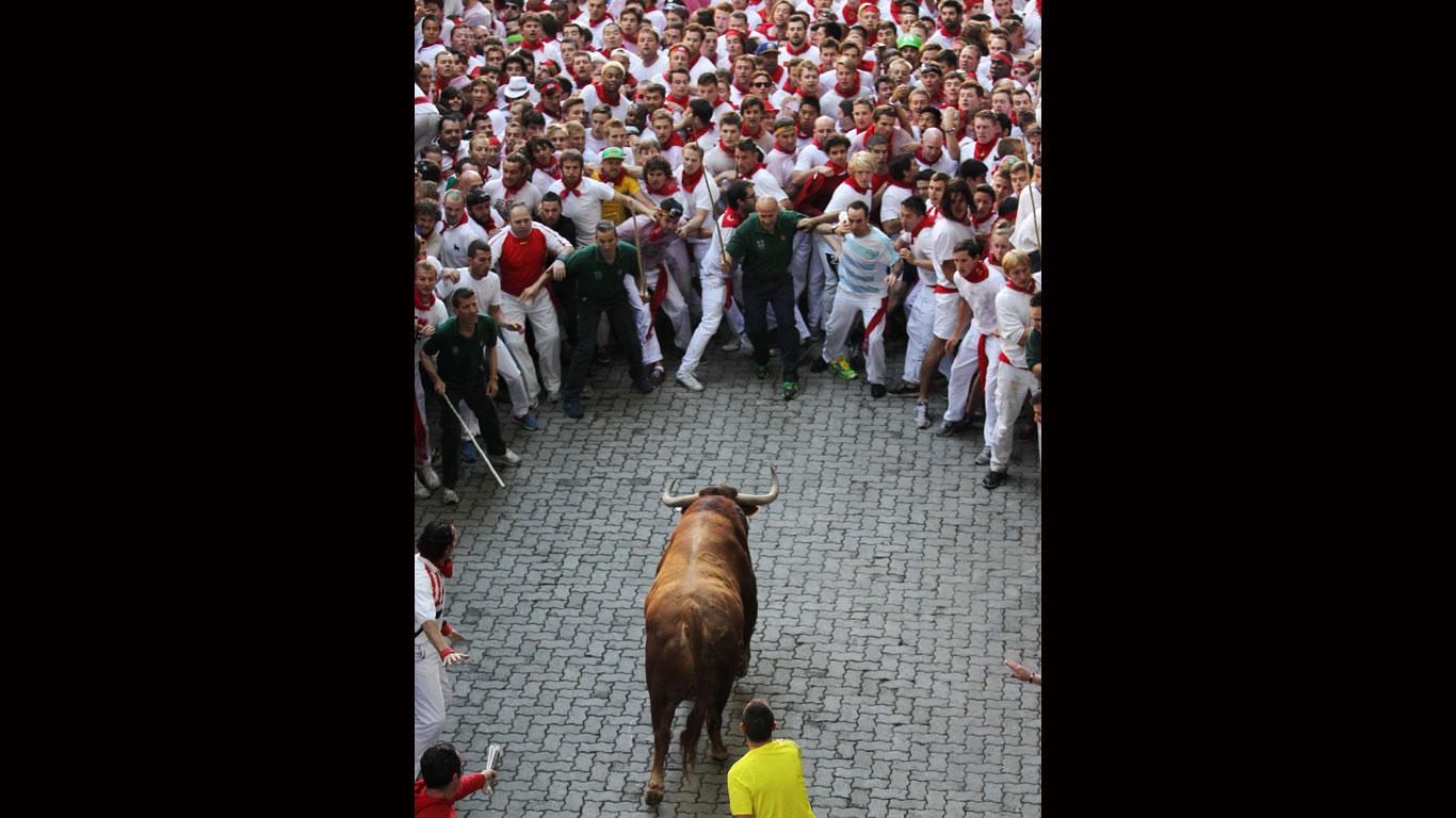 Stiertreiben in Pamplona
