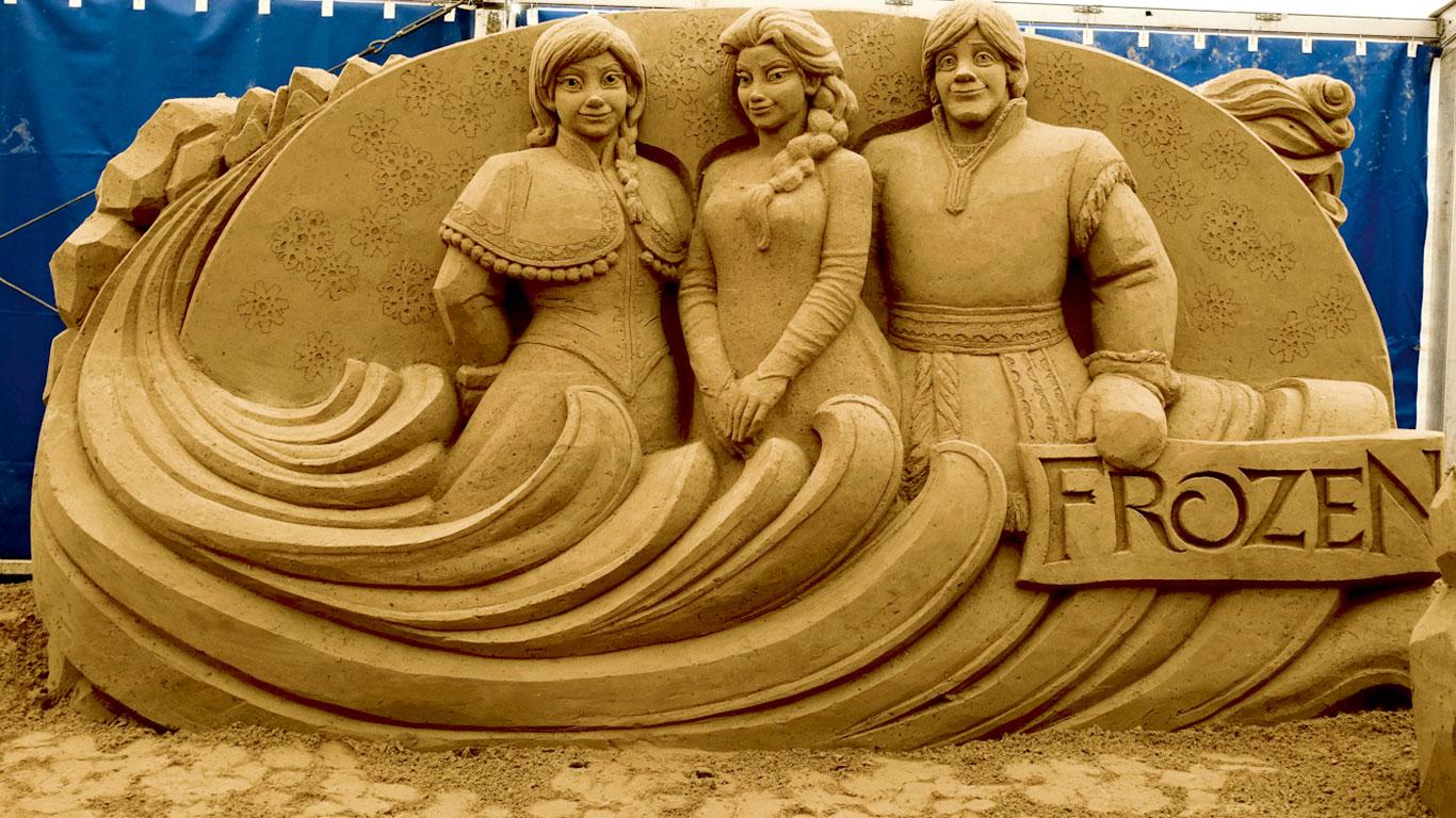 Eingefroren in Sand