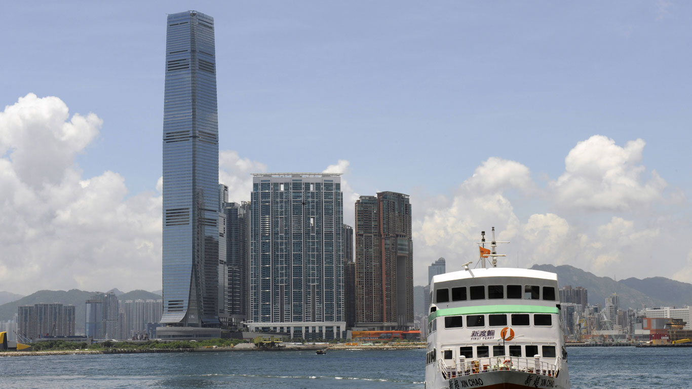 Das höchste Haus in Hongkongs Skyline