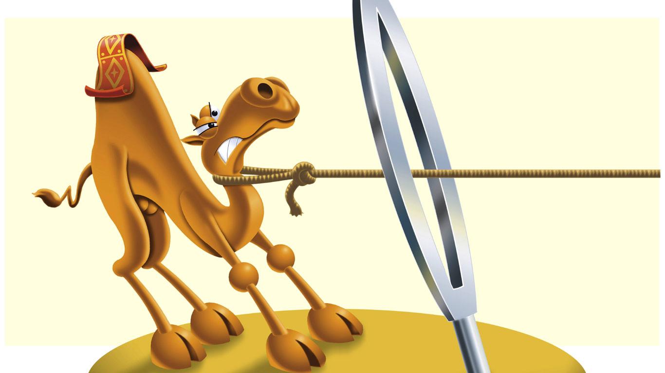 "Mythos Nr. 6: ""Eher geht ein Kamel durchs Nadelöhr…"""
