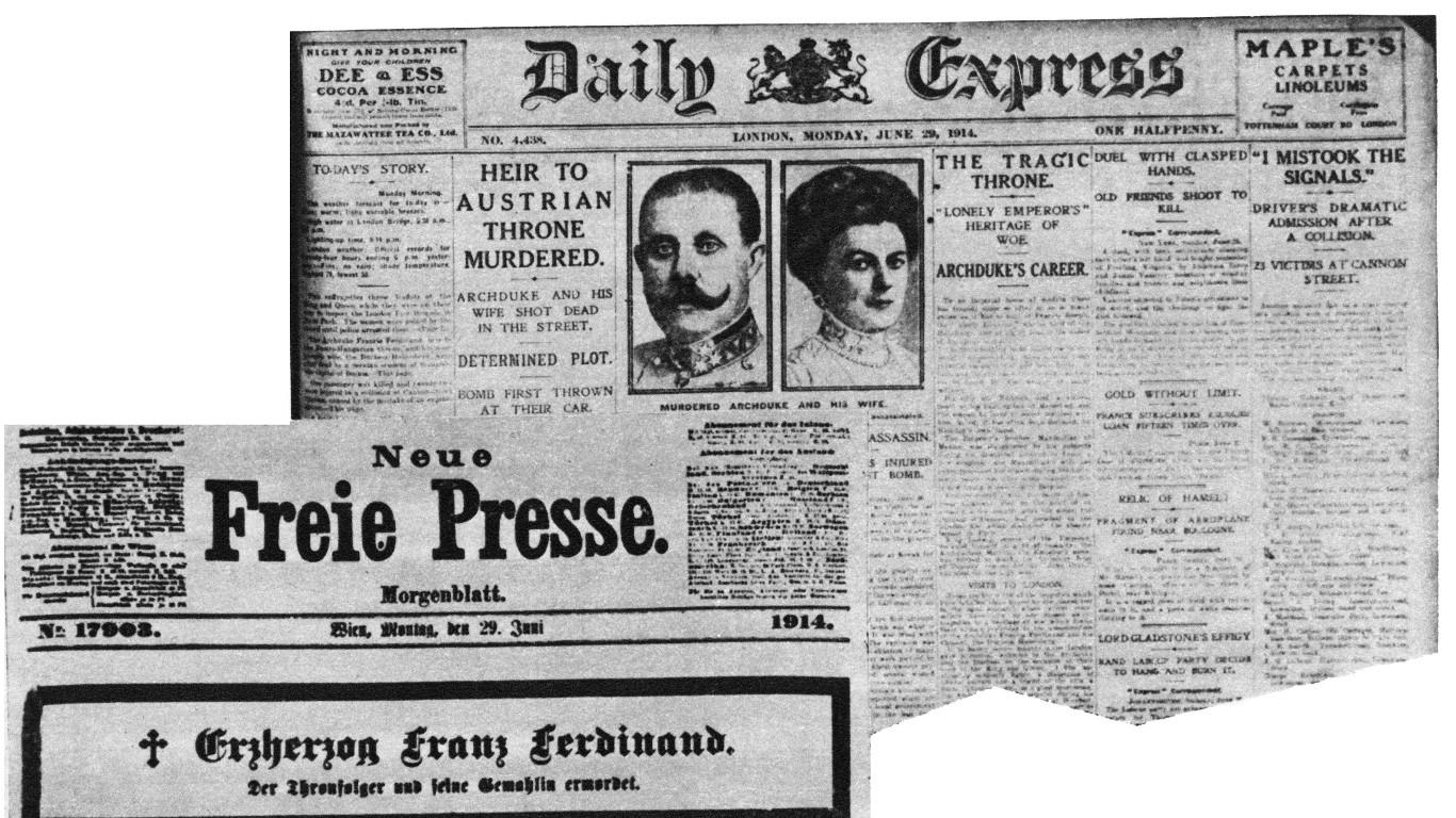 Ein Schuss löst den Ersten Weltkrieg aus
