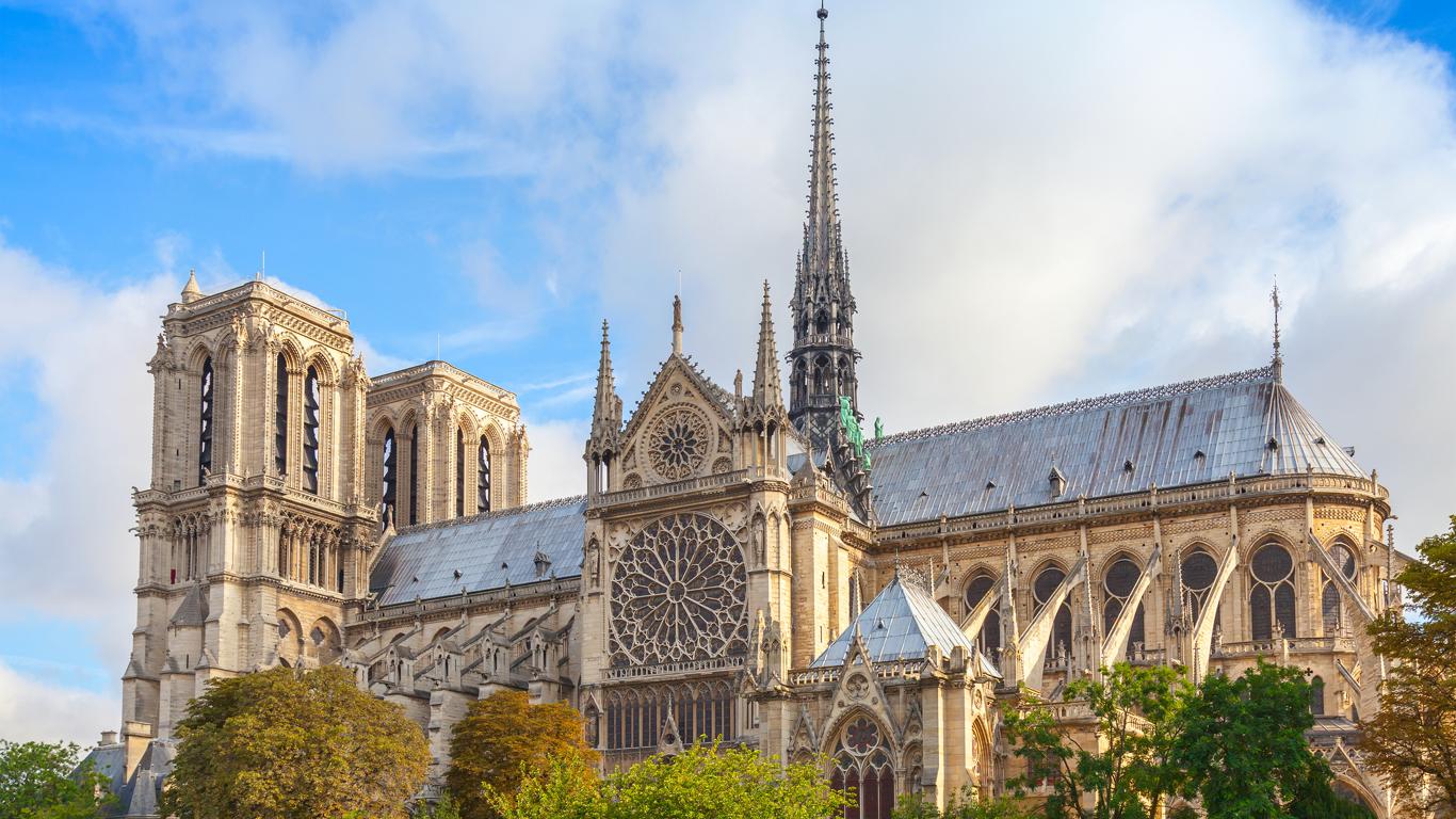 Eine Kathedrale mitten in Paris