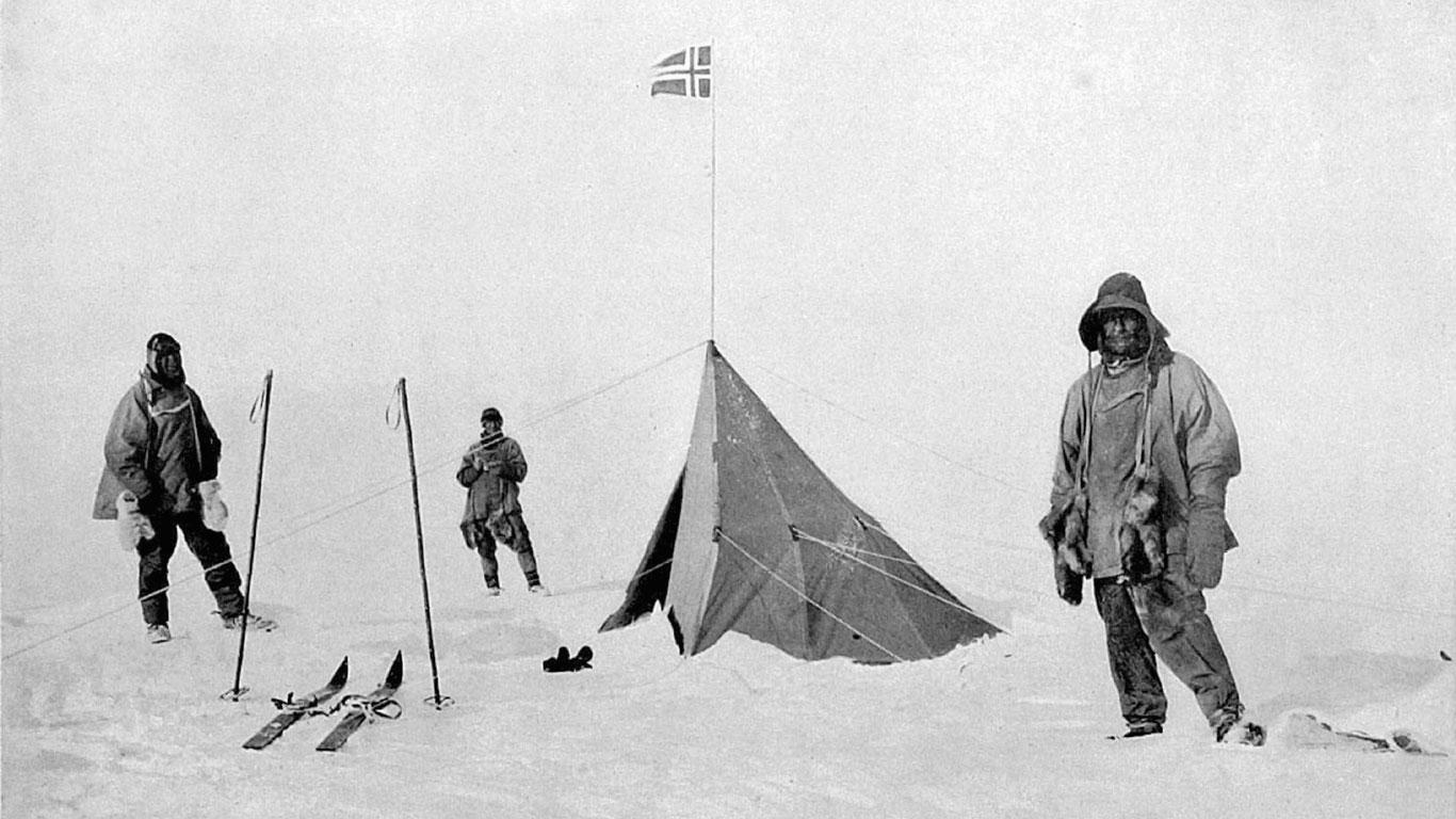 Amundsen erobert den Südpol