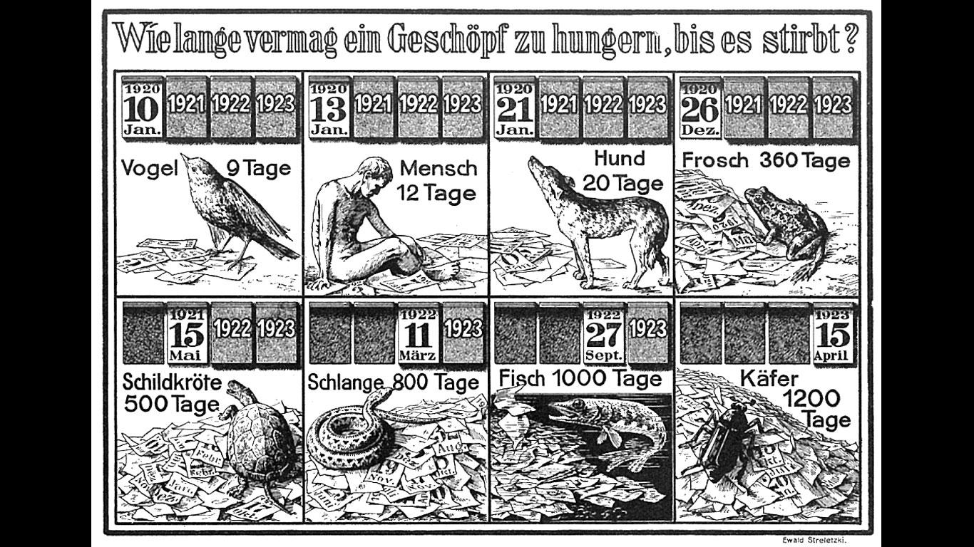 Wie lange hungert ein Lebewesen, bis es stirbt? (1926)