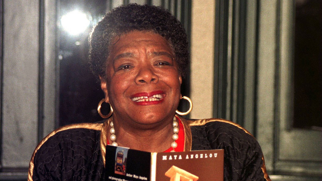 Maya Angelou (US-amerikanische Schriftstellerin, Professorin und Bürgerrechtlerin)