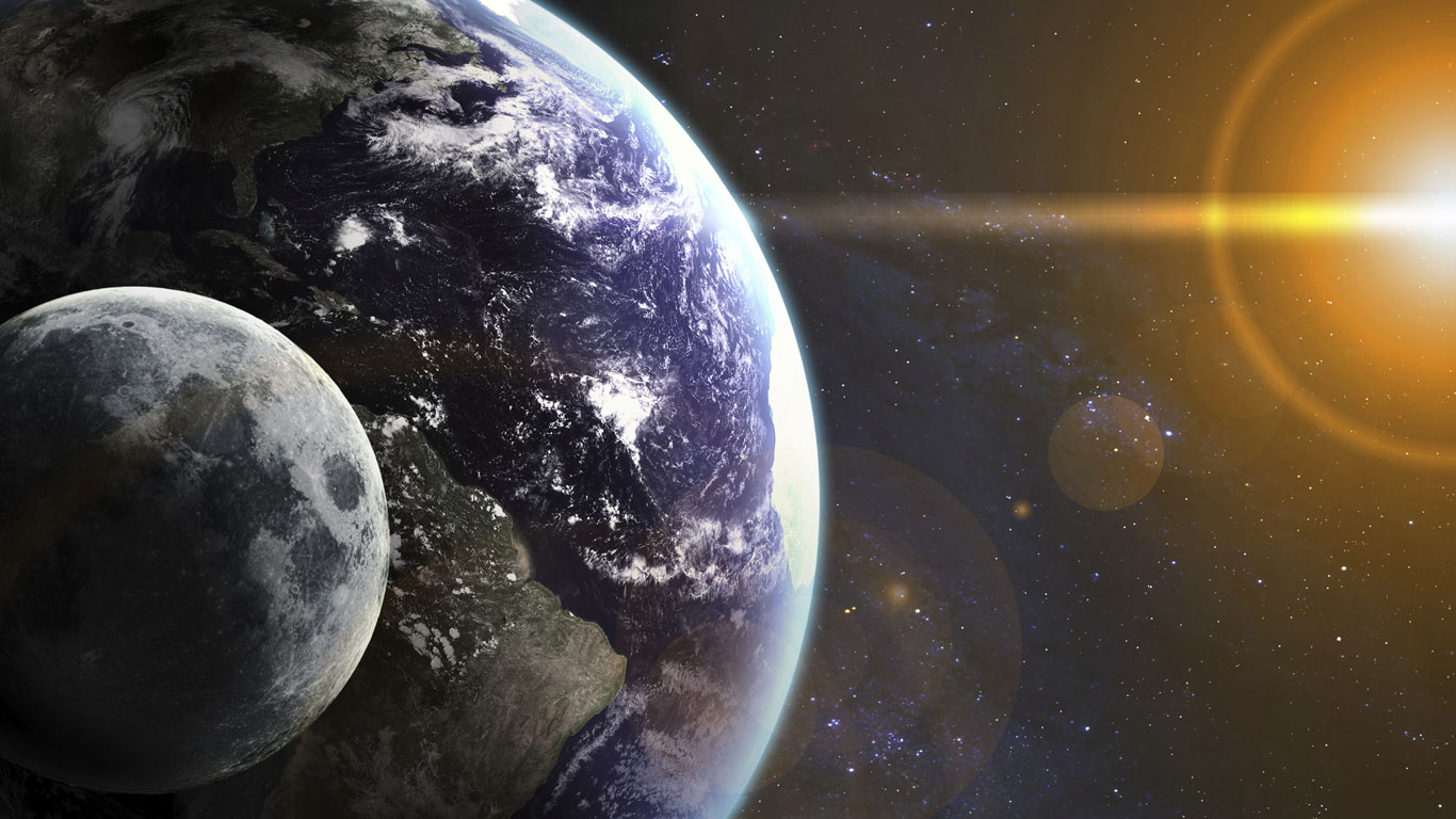… die Erde plötzlich stehen bliebe?