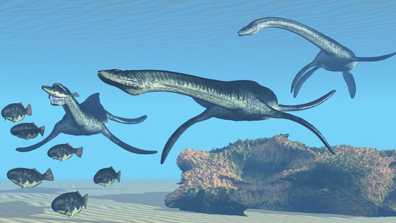 Dinos unter Wasser
