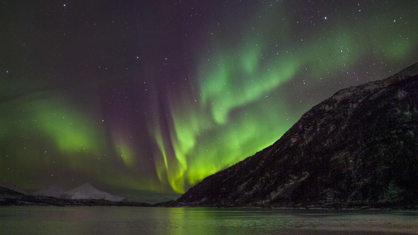 Geheimnisvolles Polarlicht: Aurora borealis