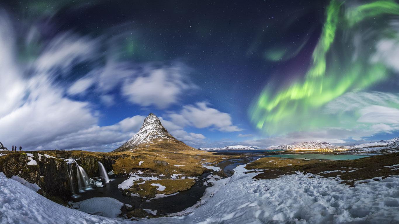 Zauberei über Island