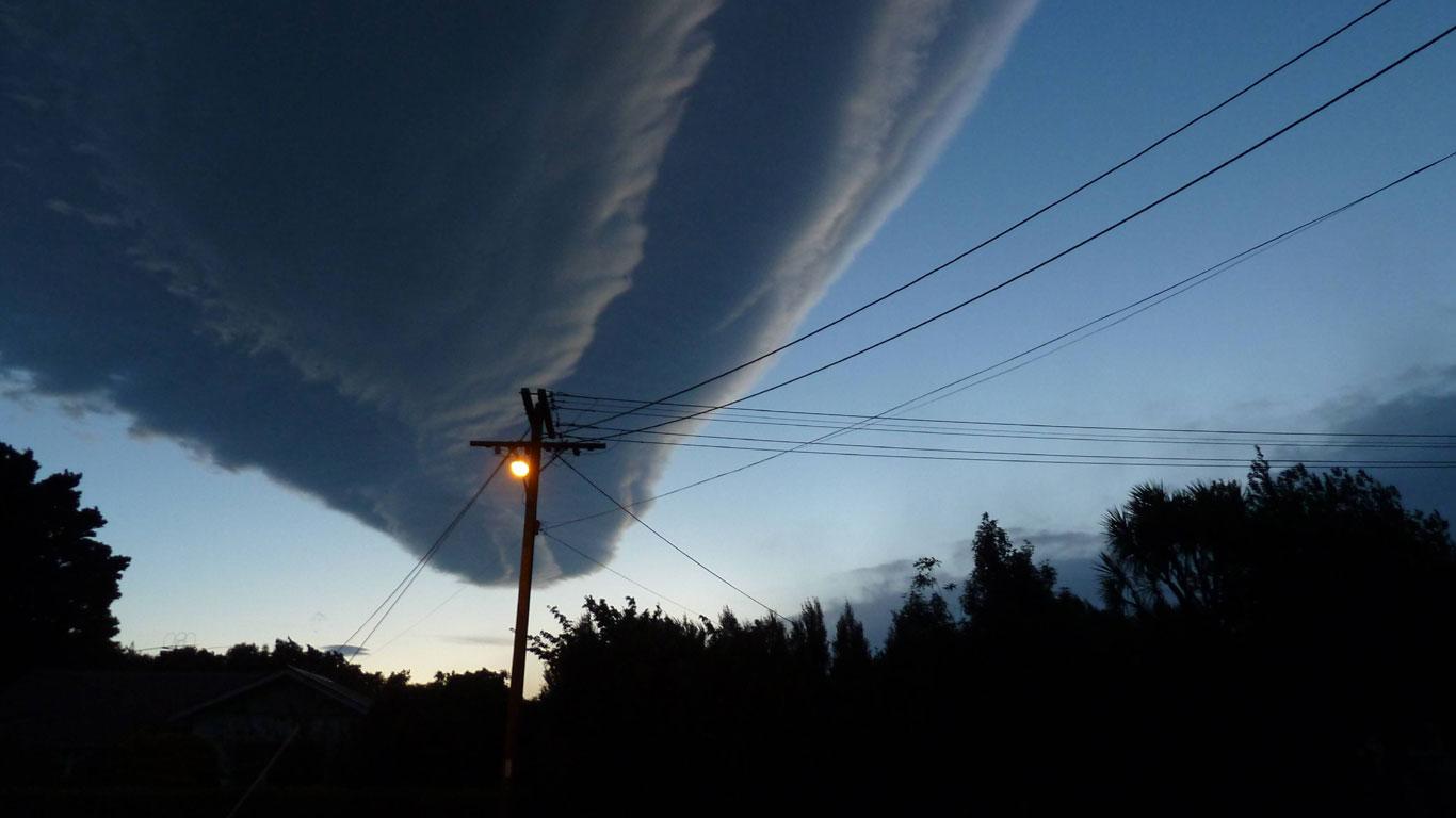 Wolkenwurst im Anmarsch