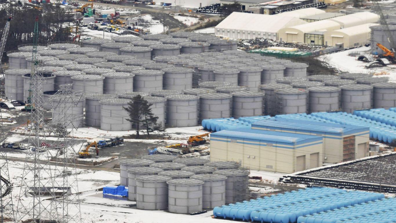 Radioaktiv kontaminiertes Wasser