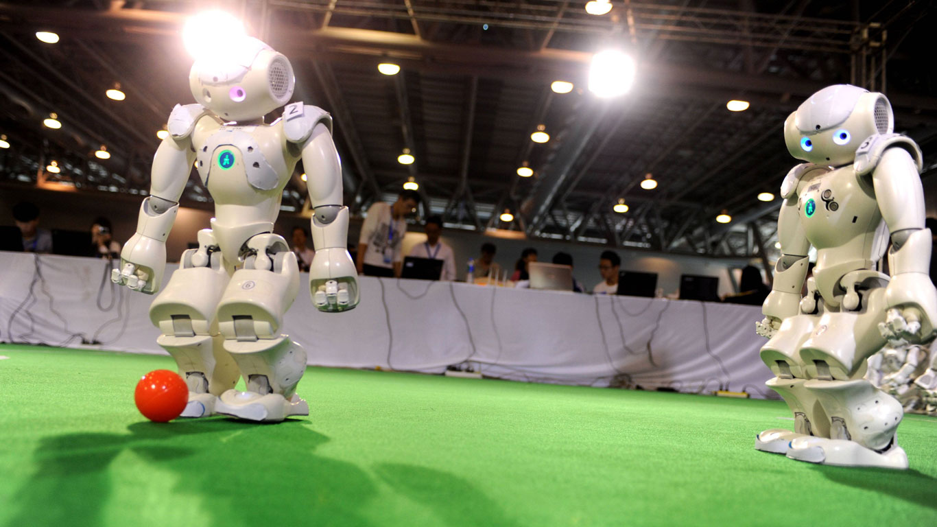 Gibt es eine Fußball-WM der Roboter?