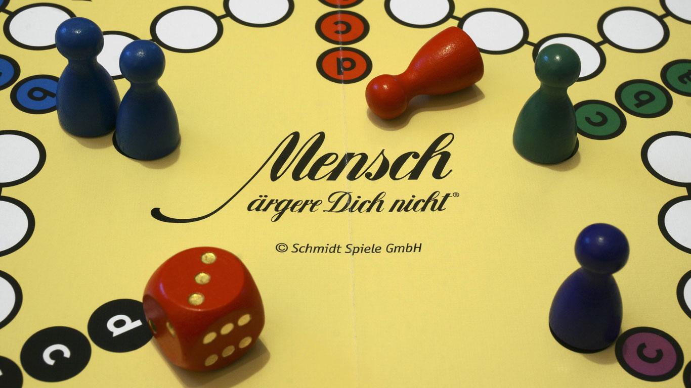 "Erfindung des Brettspiels ""Mensch ärgere dich nicht"""