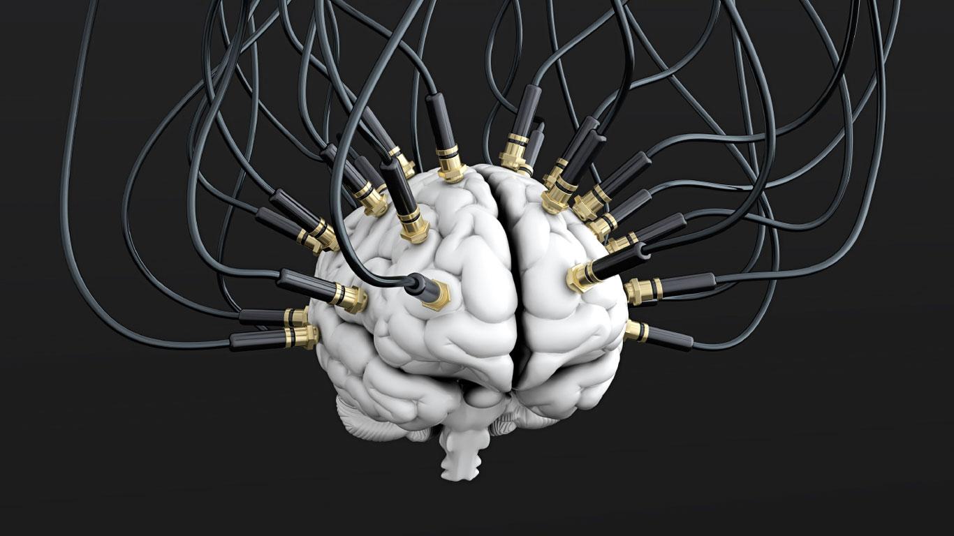 verkabeltes Gehirn
