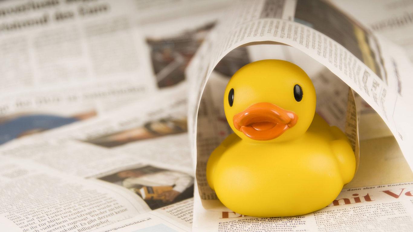 Was hat die Zeitungsente mit einer Ente zu tun?