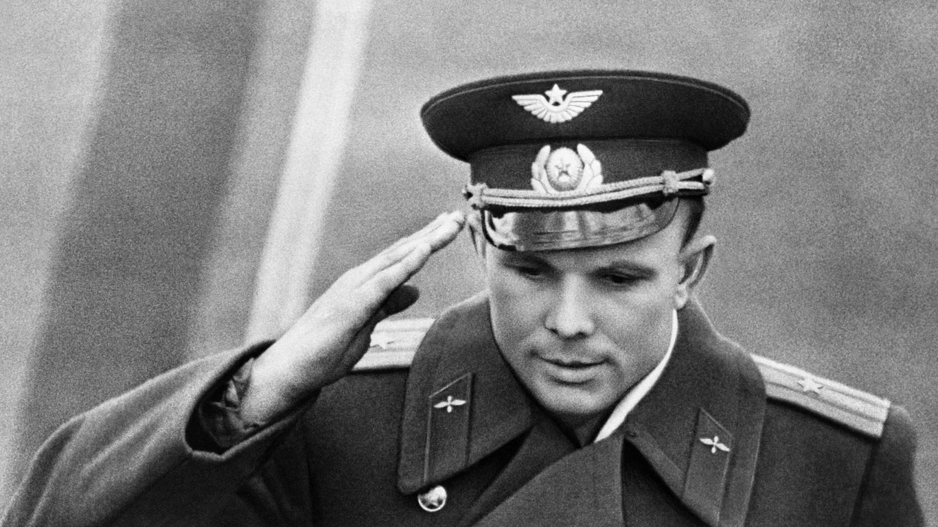 Der Pilot Juri Gagarin