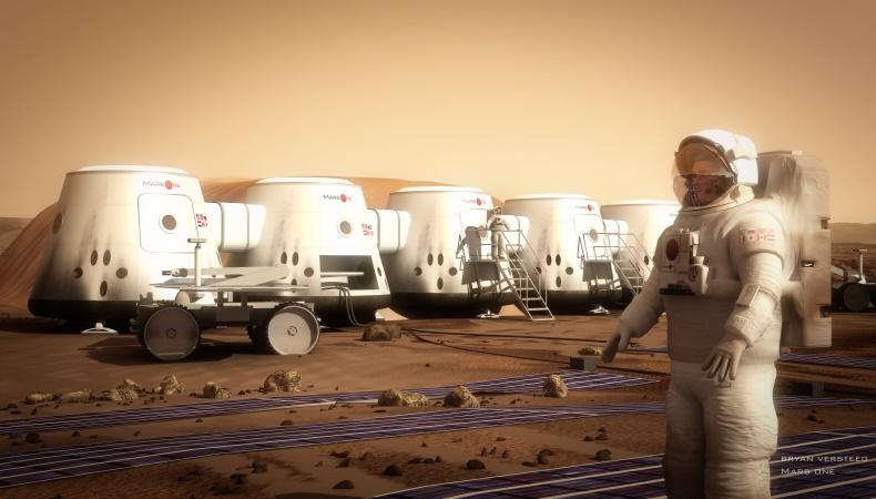 Container auf dem Mars