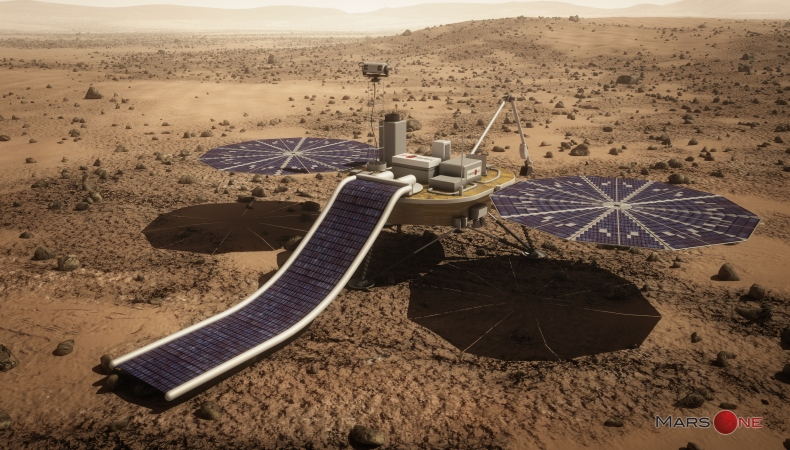 Solarmodule auf dem Mars