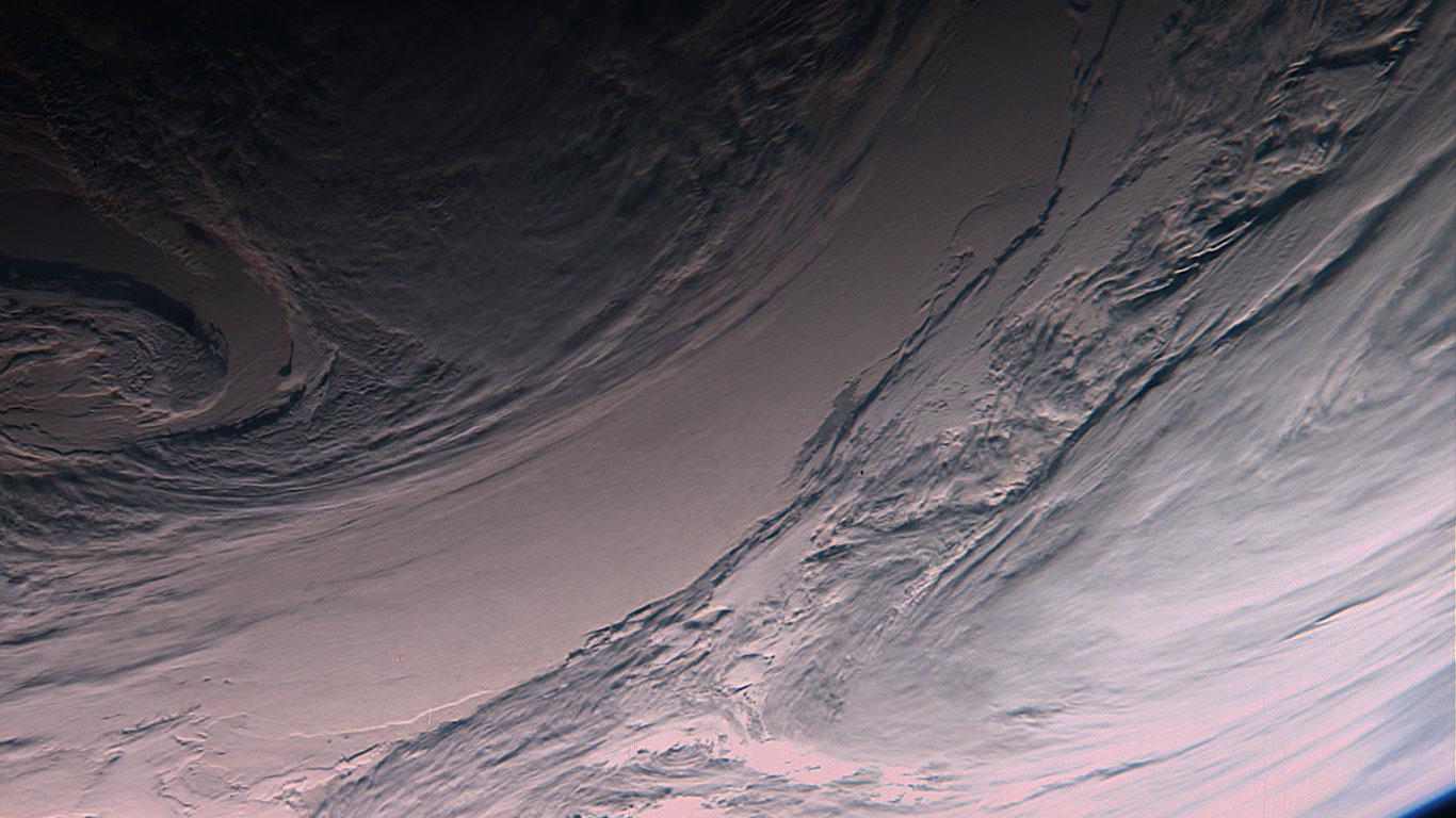 Hochdruckgebiet über dem Südpazifik, Falschfarbenbild
