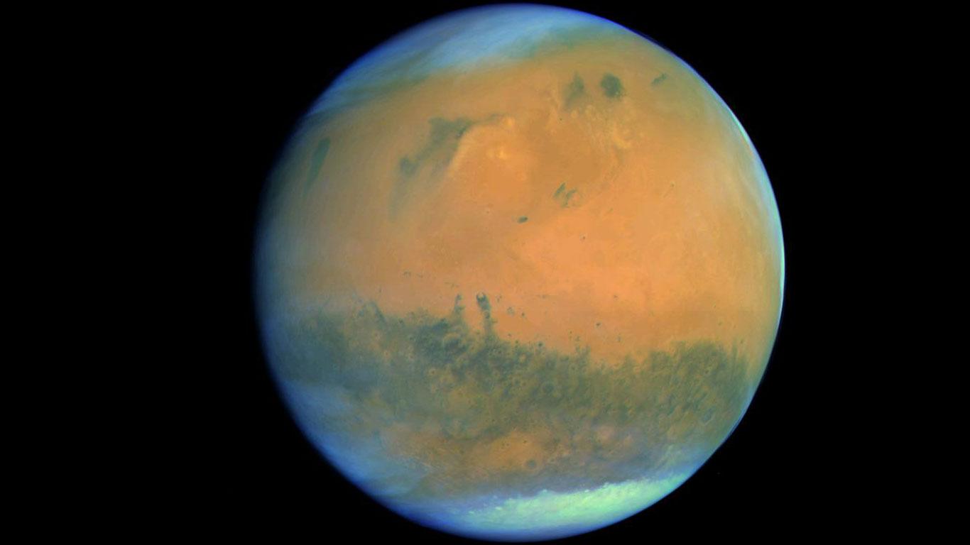 Der Mars, aufgenommen von der Rosetta-Sonde