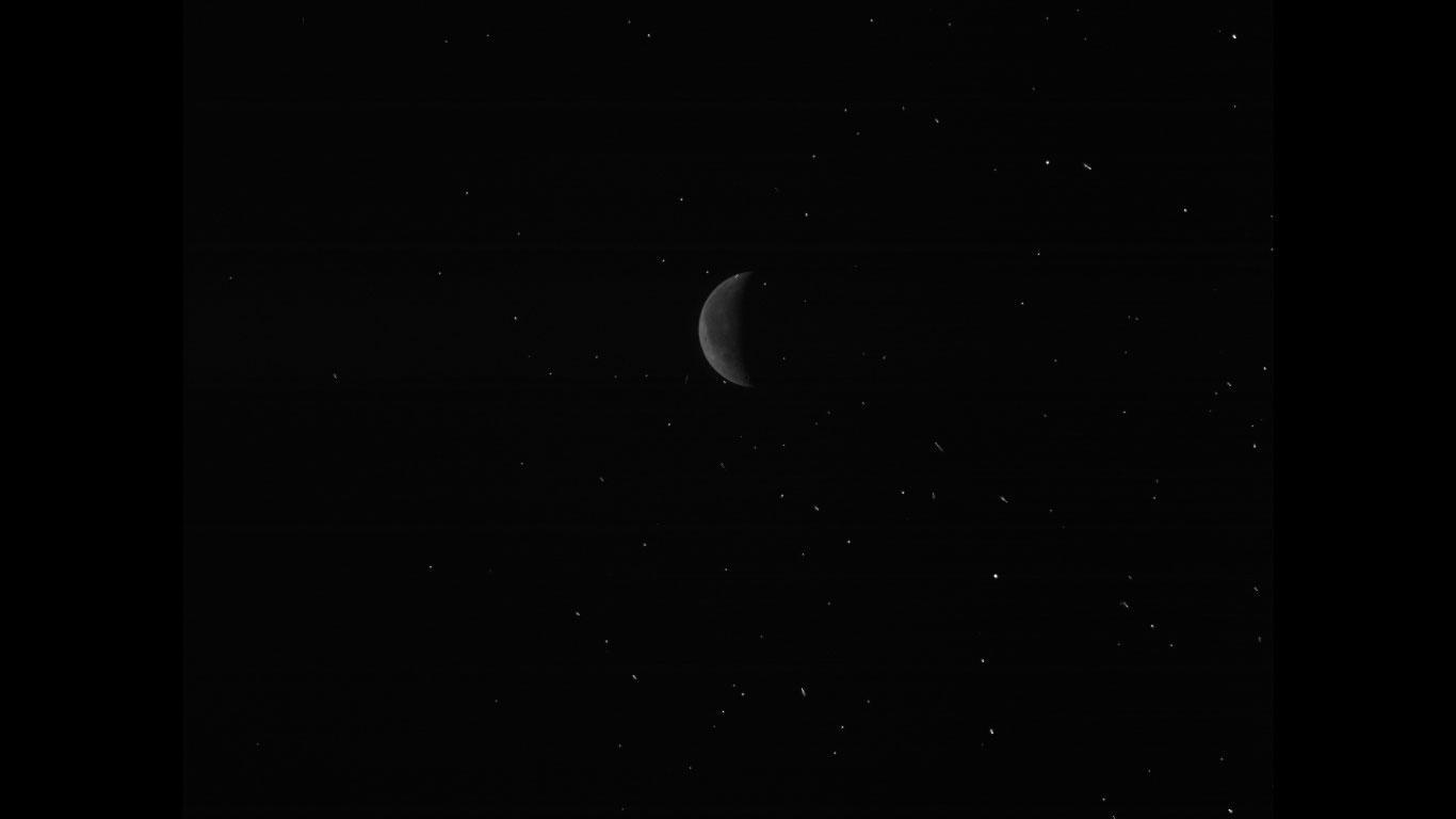 Rosetta fotografiert den Mond
