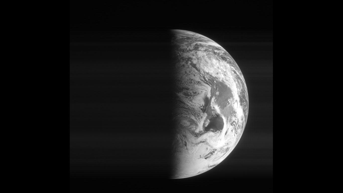 Rosettas Blick auf die Erde