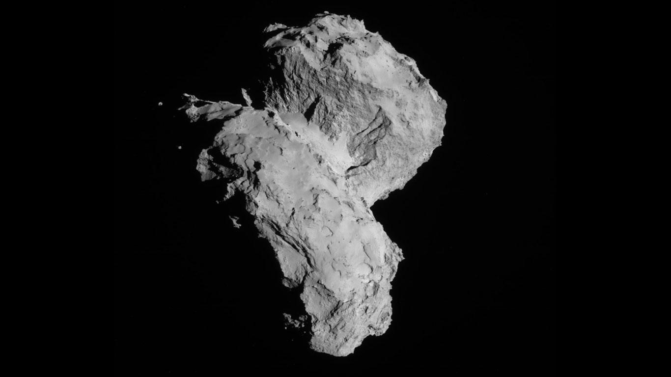 Der Komet am 22. August 2014