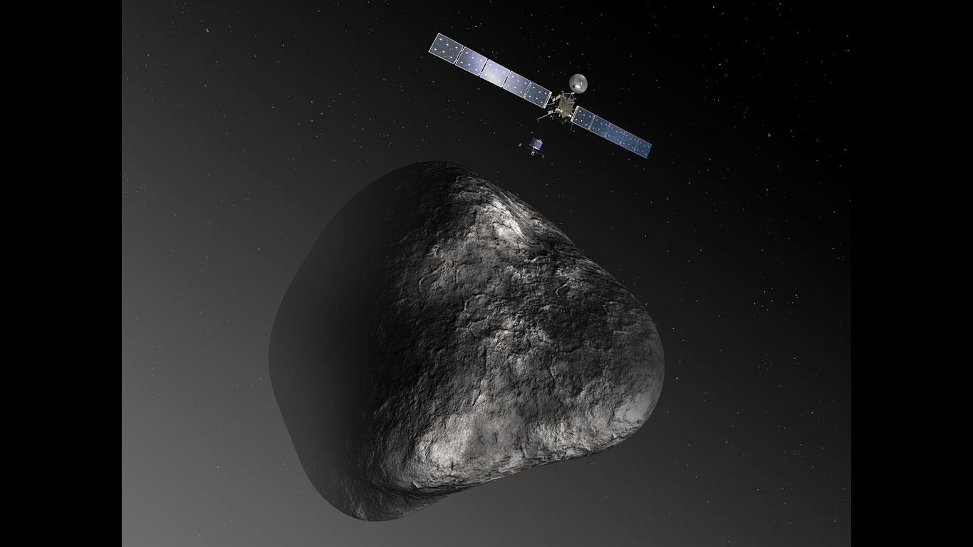Rosetta am Kometen