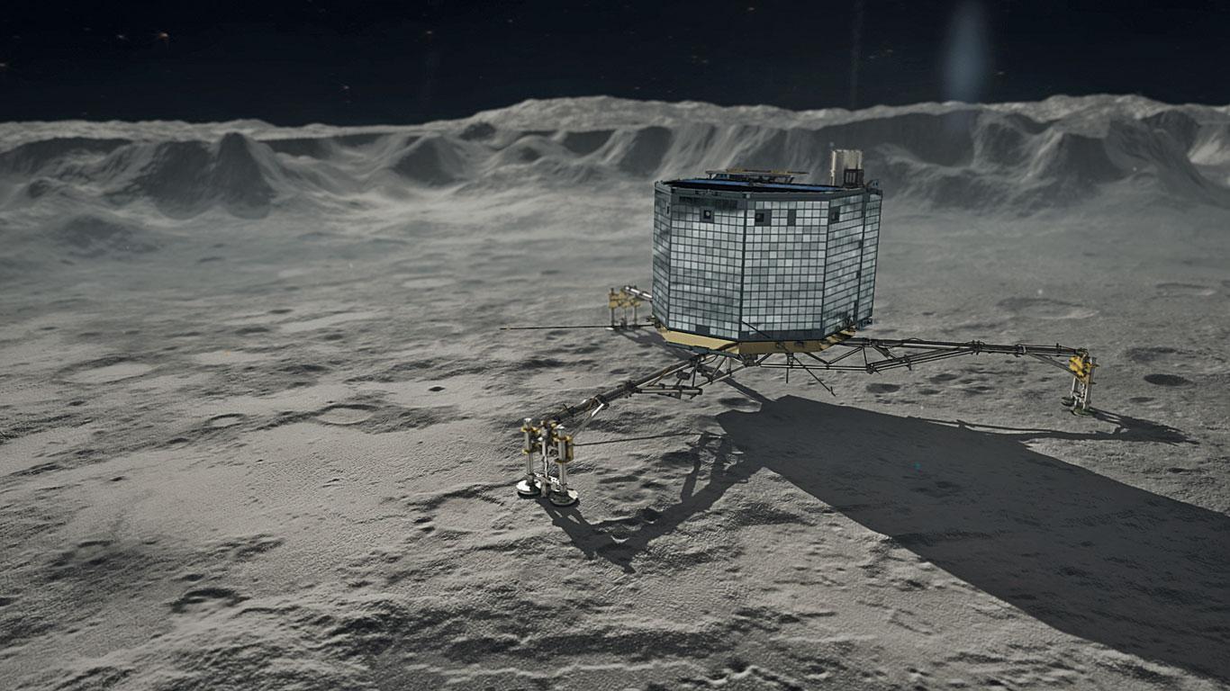 """Ein """"High-Tech-Würfel"""" untersucht den Kometen 67P"""