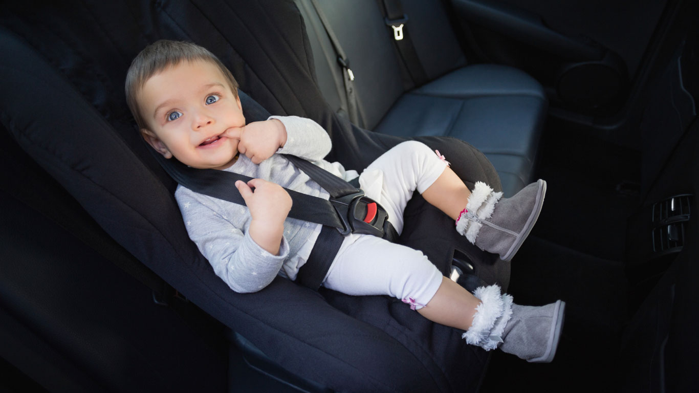 Platz 7:  Kinder als Beifahrer