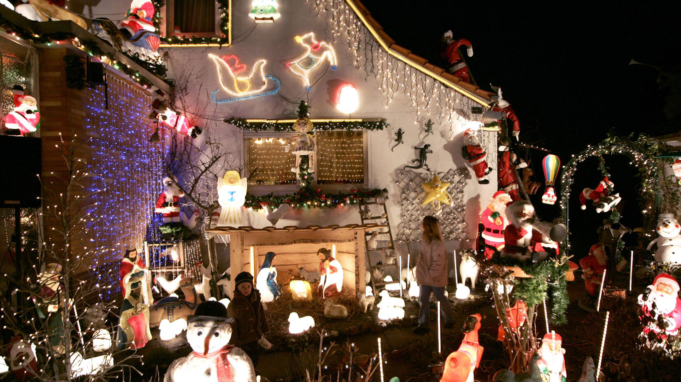 Weihnachtsbeleuchtung im Taunus
