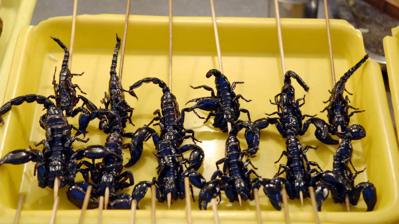 Frittierte Skorpione…