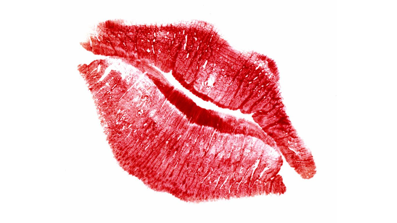Lippenabdrücke
