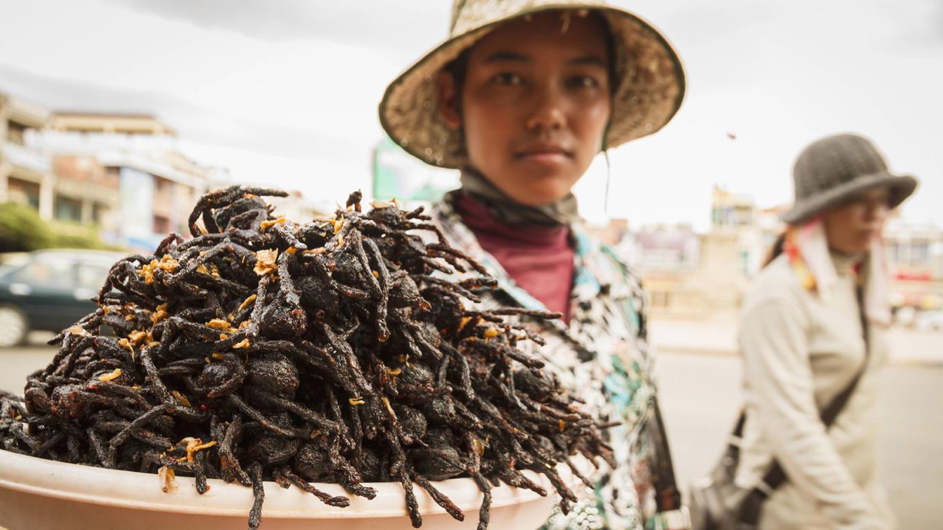 Kambodscha: Frittierte Vogelspinne