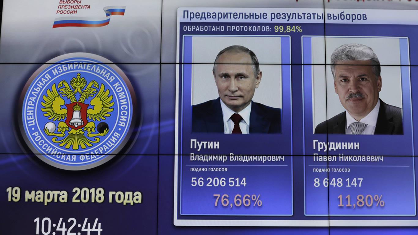 Wladimir Putin wird erneut zum Präsidenten Russlands gewählt