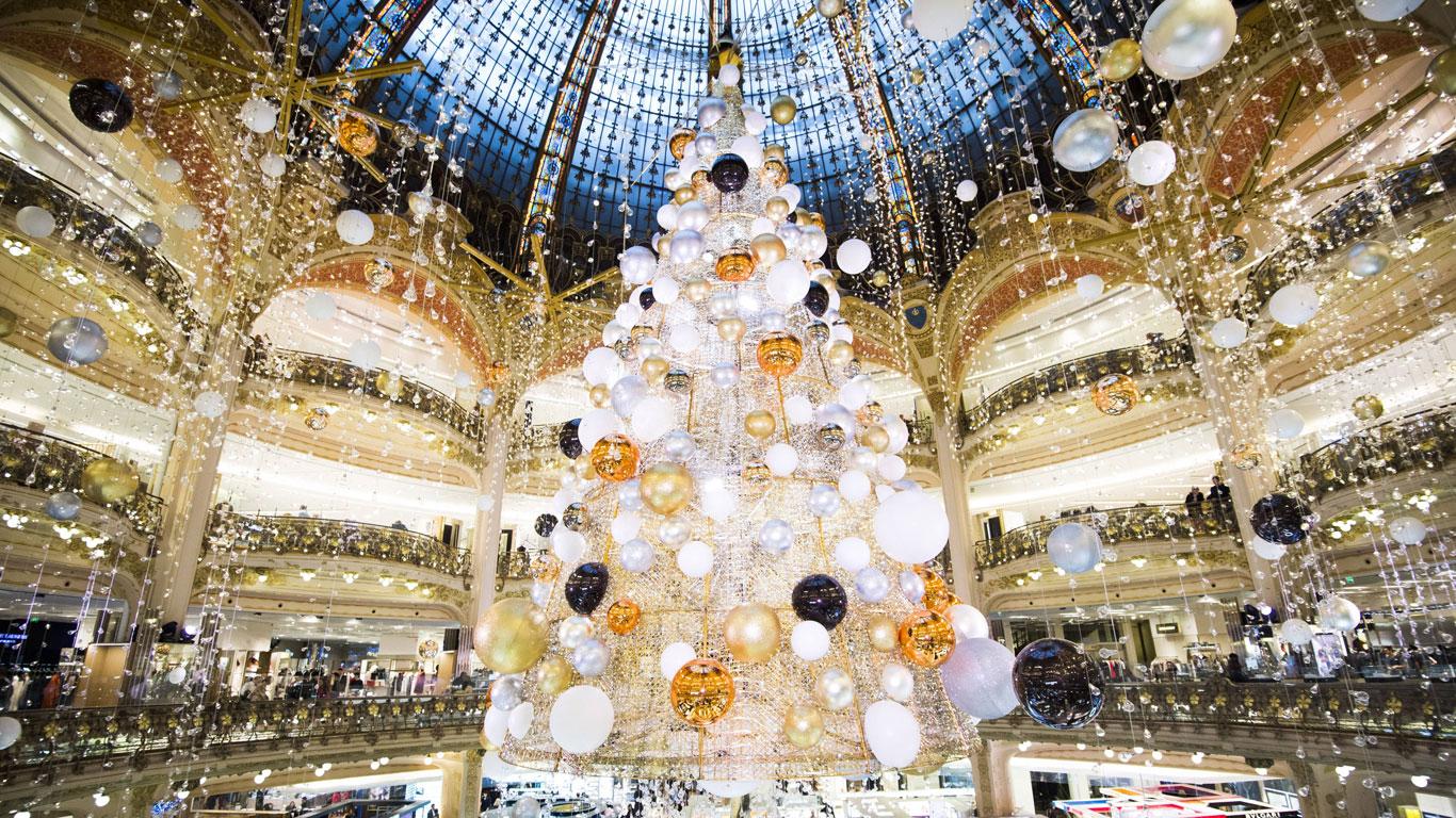 Die Galeries Lafayette in Paris