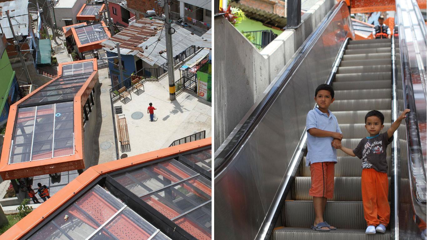 Mit der Rolltreppe nach Hause