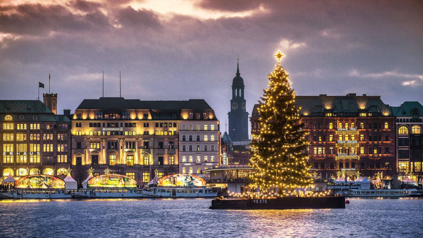 Weihnachten am Wasser