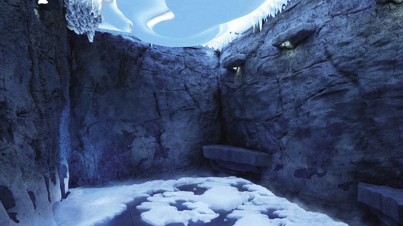 Schneeraum inklusive: Größter Thermalbereich auf See